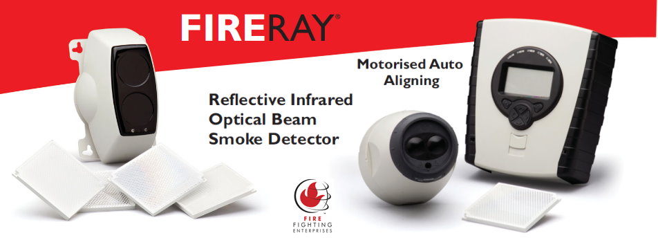 FIRERAY - Reflective Infrared Optical Beam Smoke Detector