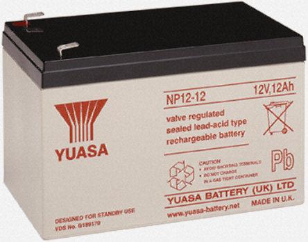 RB120AH - Batterie étanche au plomb 12V 12AH Yuasa Yusel Sealed Lead Acid 12V 12AH