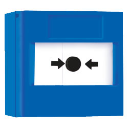RP-BS-01 - Bouton poussoir Bleu réarmable Vimpex Blue Resettable Call Point + Base