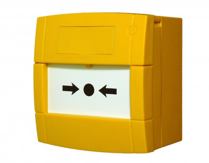 MCP3A-Y000FF - Bouton Poussoir Jaune avec contact inverseur simple KAC Yellow MCP Indoor Call Point