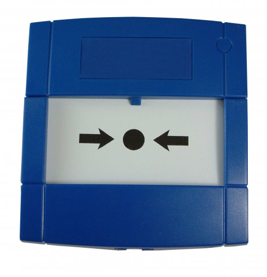 MCP4A-B000FF -Bouton Poussoir Bleu avec double contact inverseur KAC Blue MCP Indoor Call Point
