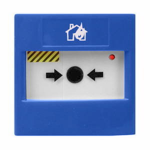VCP100B– Bouton d'Alerte Adressable Bleu VEGA Argus Security Blue Manual Call Point