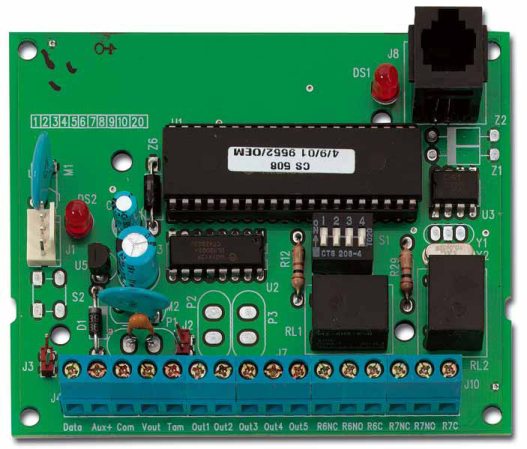 CS507 - Module Extension 7 sorties, NF et A2P type 2 UTC Fire & Security 7 Output Module Expander CS507 ARITECH