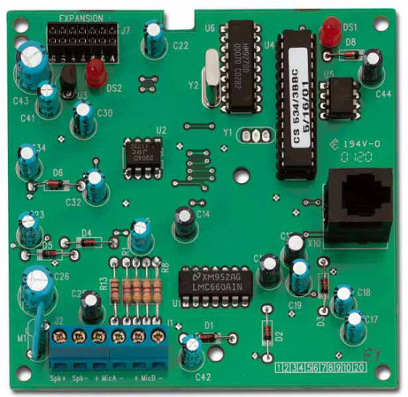 CS534 - Module d'interphonie pour système domotique UTC Fire & Security Home Systems Audio Board with X-10 CS534 ARITECH