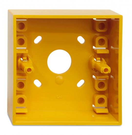 SY - Socle de montage jaune pour bouton poussoir type MCP3A KAC Yellow back box KAC SY