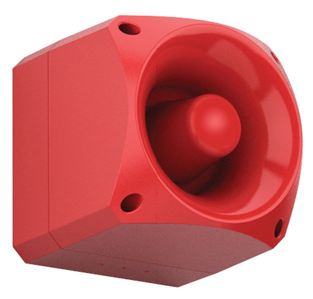 AS376 Sirène d'incendie, multi-tonalités, haute intensité sonore, IP66 - Fire sounder, multi tone, high output, IP66