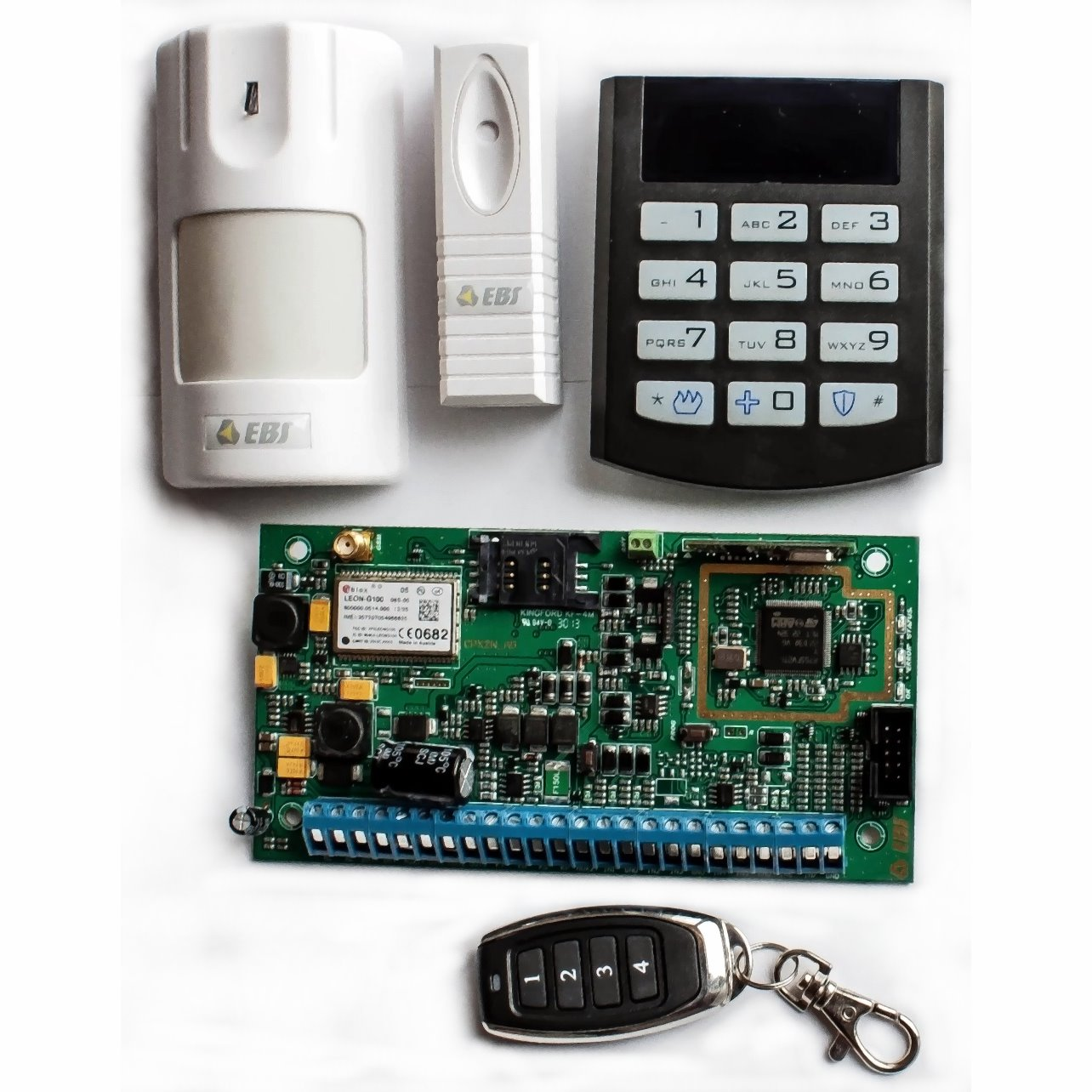 CPX200NW - Kit Centrale d'alarme Sans Fil avec Transmetteur GSM/GPRS intégré - Kit Wireless Control Panel integrated with GSM/GPRS Transmitter