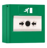 RP-GS-01 - Bouton poussoir Vert réarmable Vimpex Green Resettable Call Point + Base