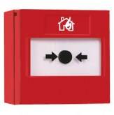 RP-RS-01 - Bouton poussoir incendie rouge réarmable Vimpex Red Resettable Call Point + Base