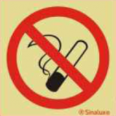 SIN26702 - Pictogramme de Sécurité Photo-luminescent 'Défense de Fumer' 100 x 100 mm SINALUX No Smoking Photoluminescent Safety Sign 26702