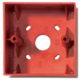 SR - Socle de montage rouge pour bouton poussoir type MCP1A KAC Red back box KAC SR