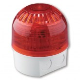 AS367W Sirène/Flash, 32 tonalités, socle blanc avec accès - Sounder-Beacon, 32 Tones, white deep base - UTC Fire & Security