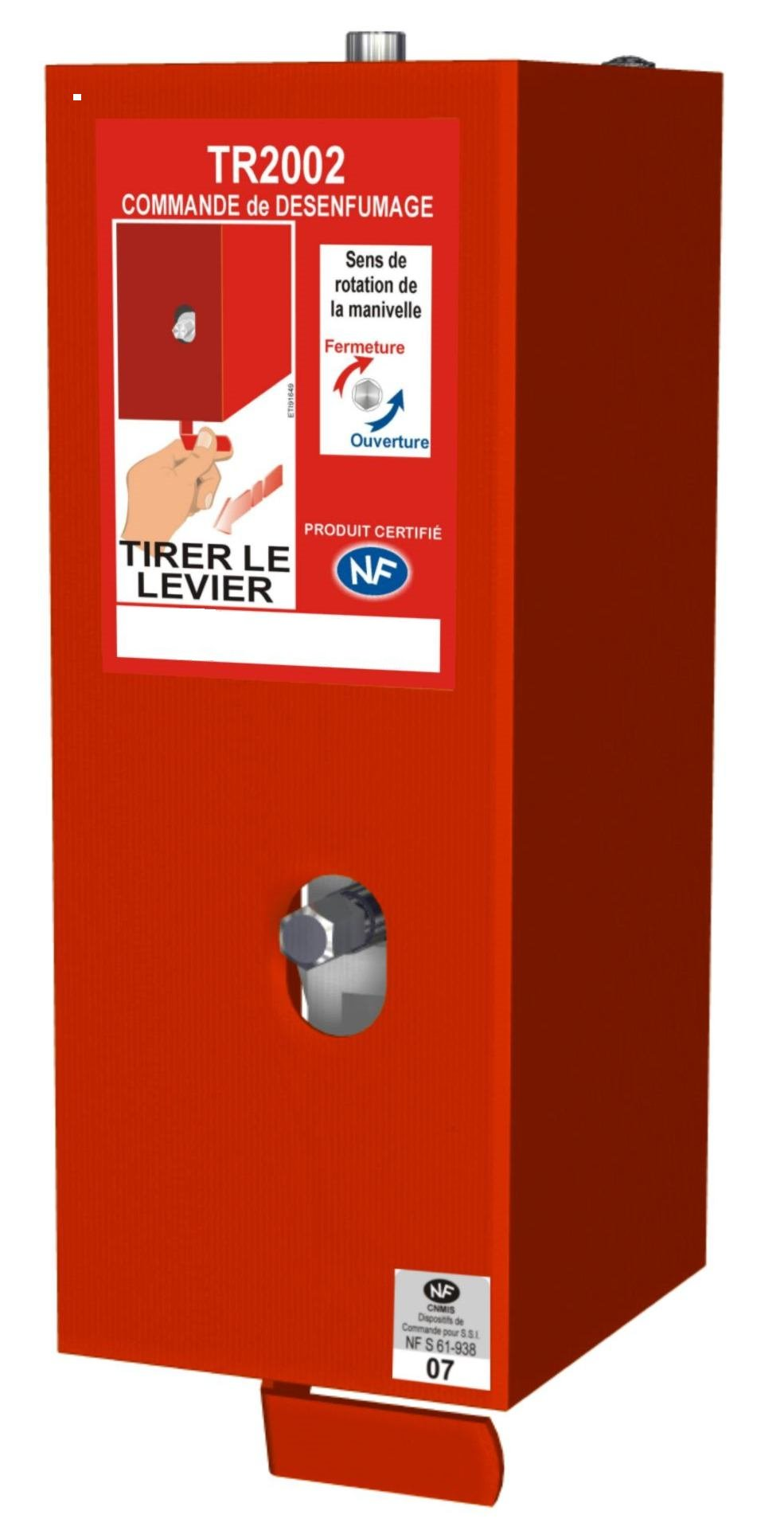 TR2002 - Treuil modulaire certifié NF avec déclencheur rouge et manivelle - NF certified modular winch with red release handle and cranck
