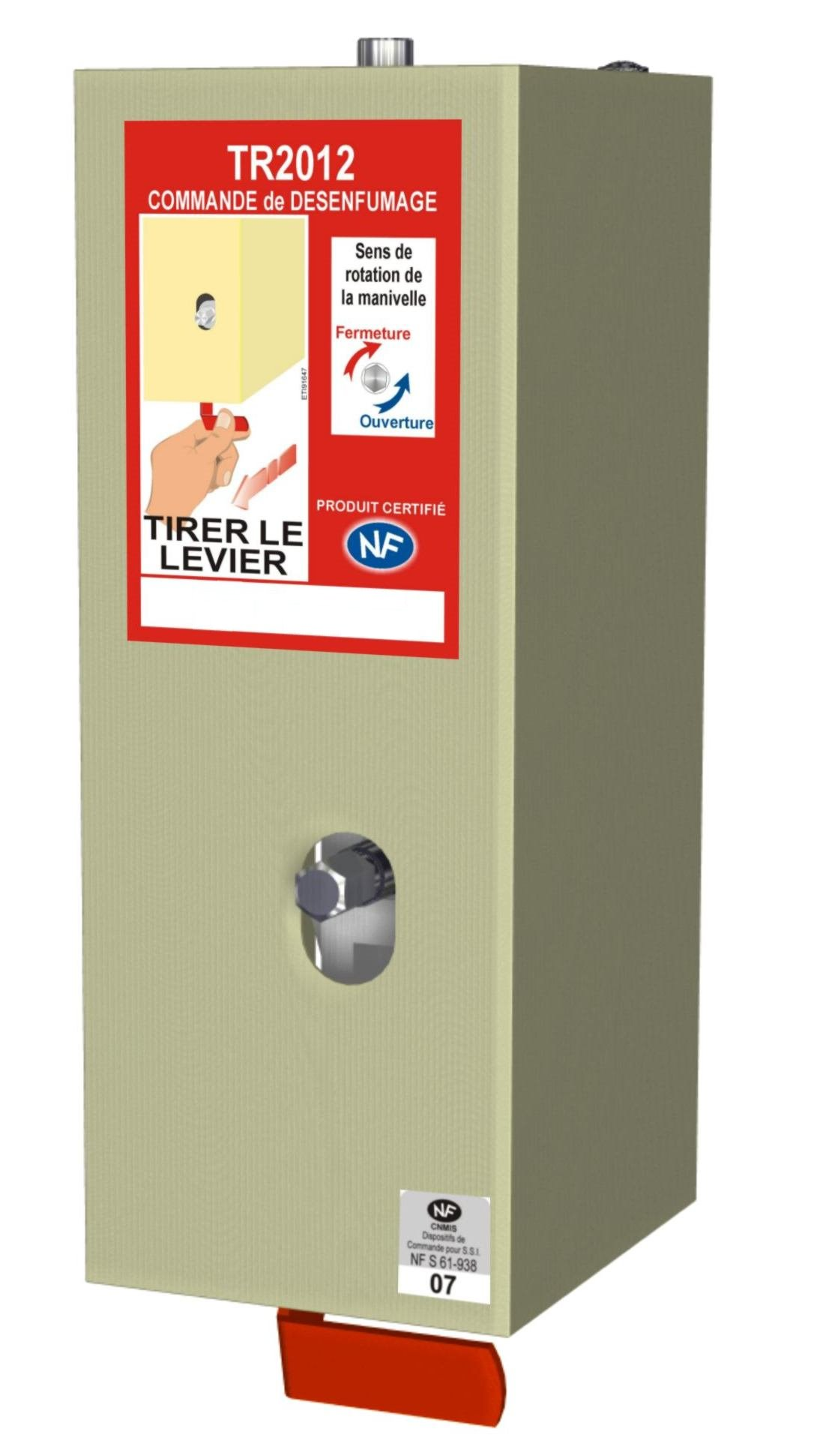 TR2012 - Treuil modulaire certifié NF avec déclencheur rouge et manivelle - NF certified modular winch with red release handle and cranck